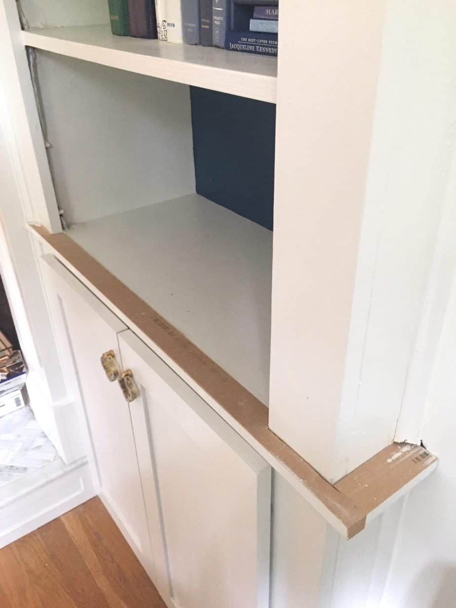 Updating Adding Cabinet Doors To Built In Bookcases Bookcase Building Cabinet Doors Cabinet Doors