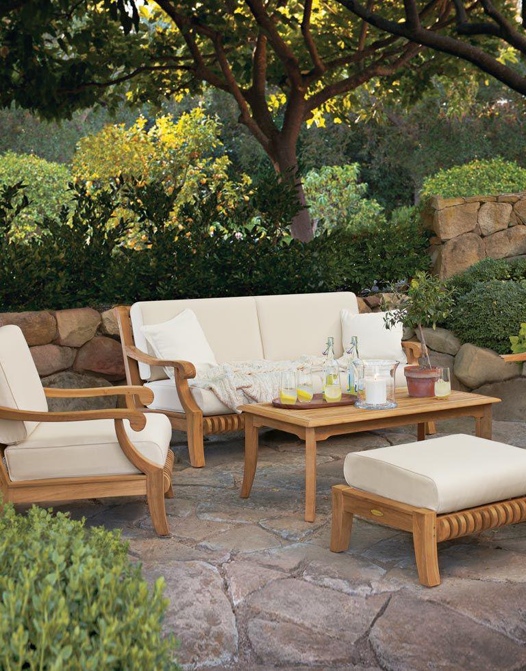 Smith U0026 Hawken Avignon Teak Sofa, Chair, And Table. Outdoor ...
