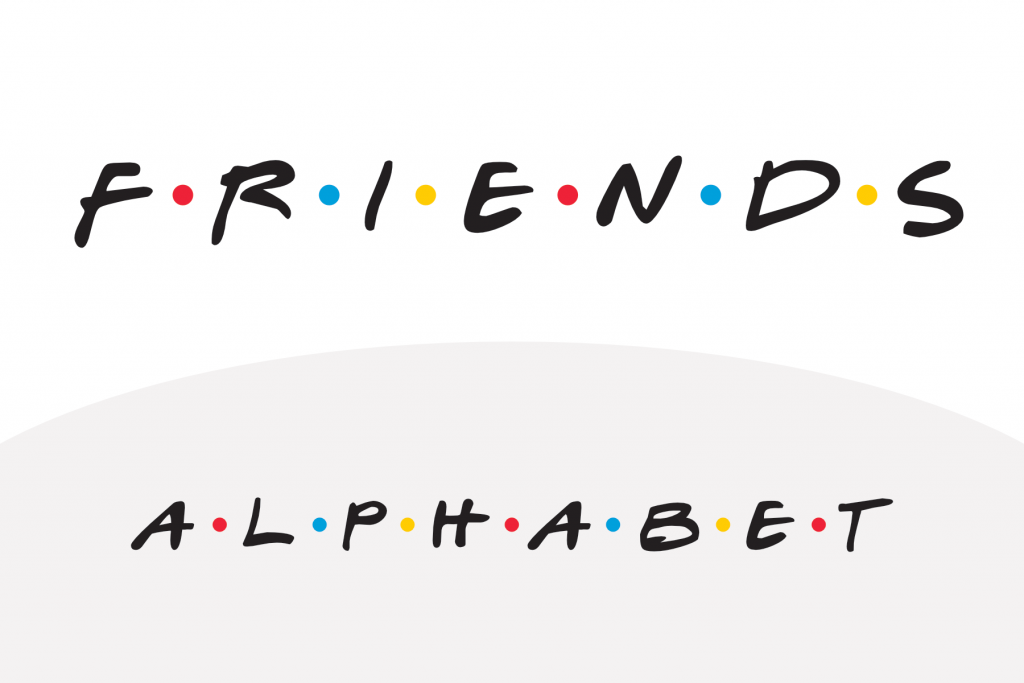 Friends TV Show Alphabet PAPERZIP Friends font
