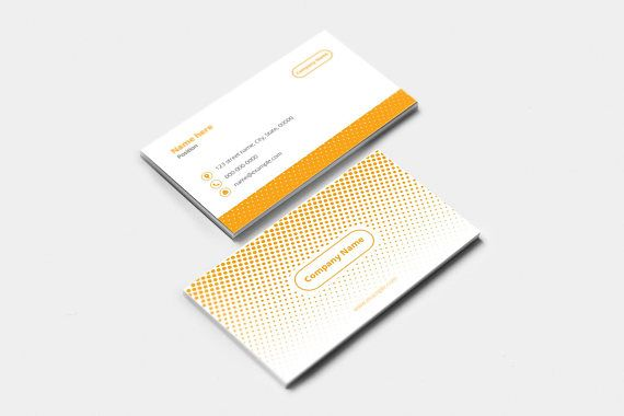 Business card template corporate business card illustrator business card template corporate business card illustrator template instant download v08 wajeb