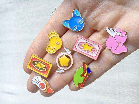 Cardcaptor Sakura Pin Set Sakura Enamel Pin by RedThreadStore