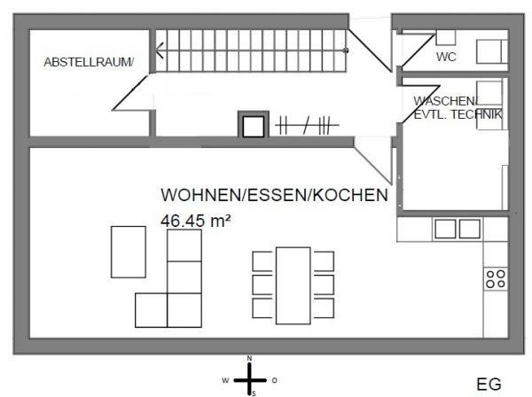 Einfamilienhaus grundriss ohne keller  Windfang möglich? größe in qm? schöne Idee Dachboden erstmal über ...