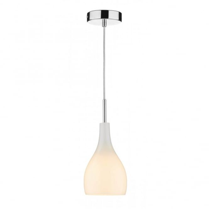 Dar Soho 1 light Polished Chrome mini ceiling pendant with Opal White glass.  sc 1 st  Pinterest : small pendant lights - azcodes.com