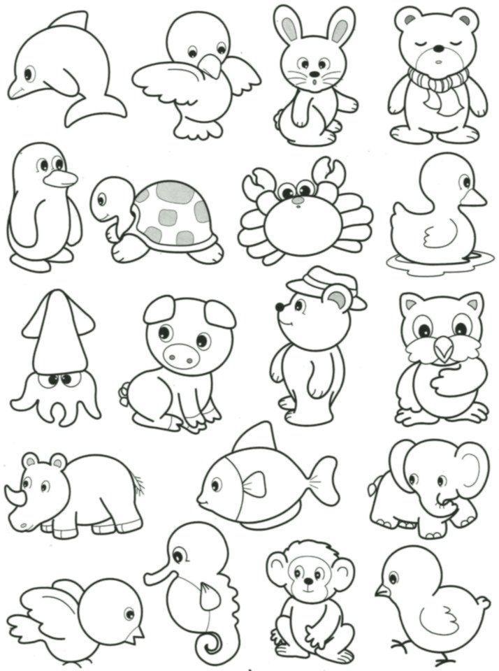Susse Kleine Tiere Zum Ausmalen Ausmalen Und Malvorlagen Tiere Zum Ausmalen Ausmalbilder Zum Ausdrucken Kostenlose Ausmalbilder