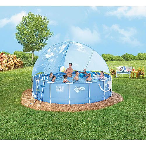 14 foot x 42 inch Metal Frame Canopy Pool - Poly Group - Toys  R & 14 foot x 42 inch Metal Frame Canopy Pool - Poly Group - Toys