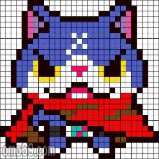 Yo Kai Watch Perler Bead Pattern Acnl Motif Jibanyan Ou Yo