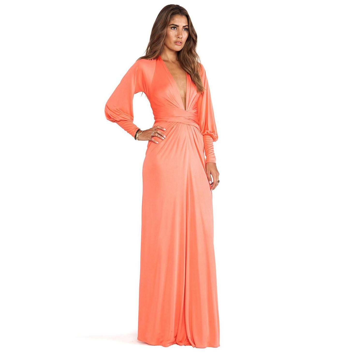 Incredible Long Maxi Dresses Designs : Issa Long Sleeve Wrap Maxi ...