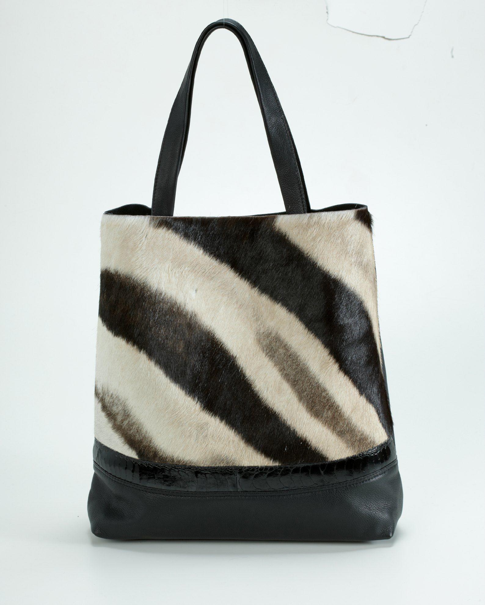 Zebra Skin Handbag Luxury Leather Bags  94921b7d31466