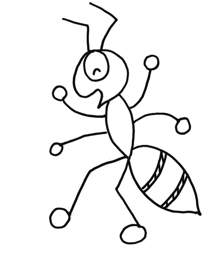 Related Post From Ant Cartoon And Printable Ants Coloring