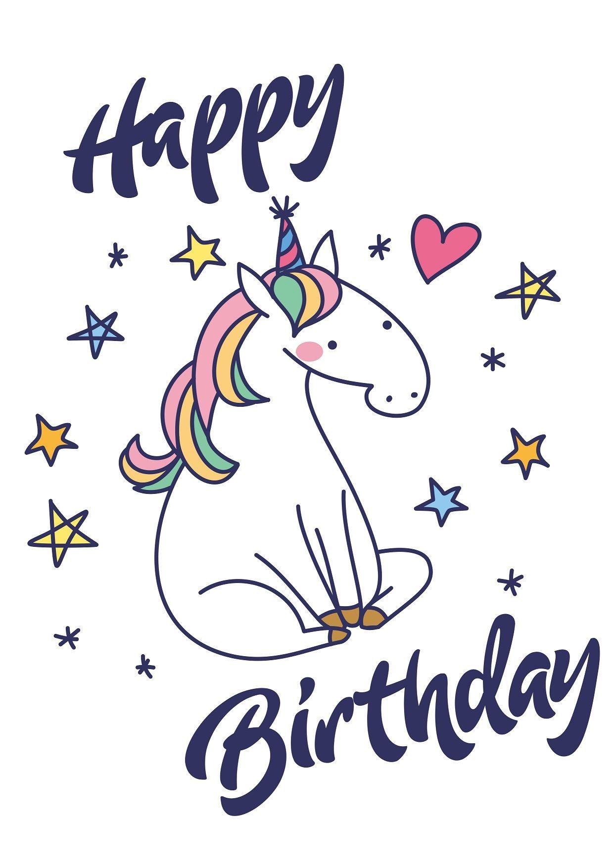 Happy birthday svg birthday cards unicorn svg unicorn