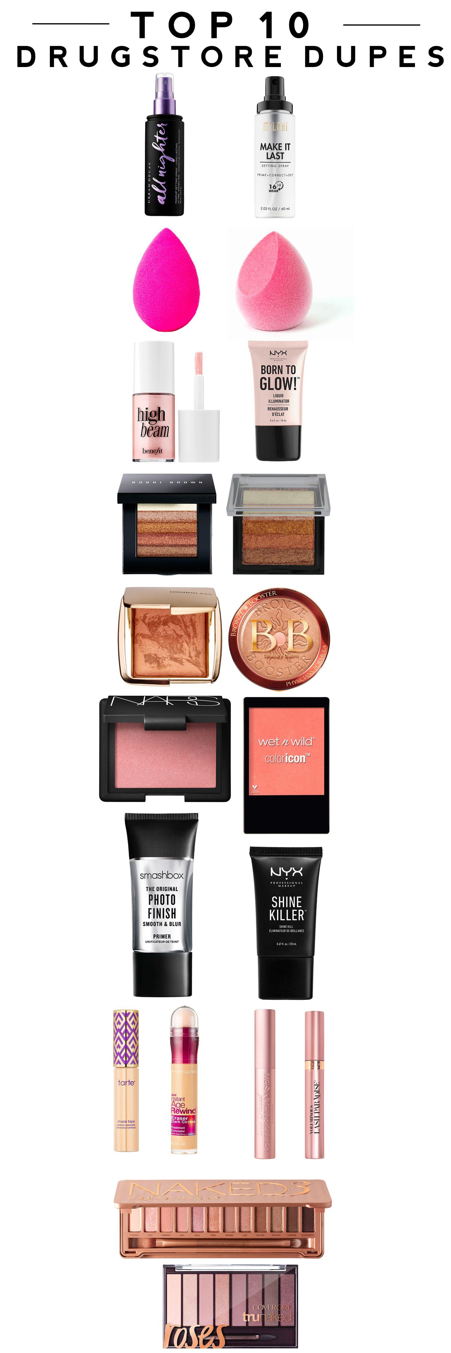Top 10 Drugstore Makeup Dupes Drugstore makeup dupes