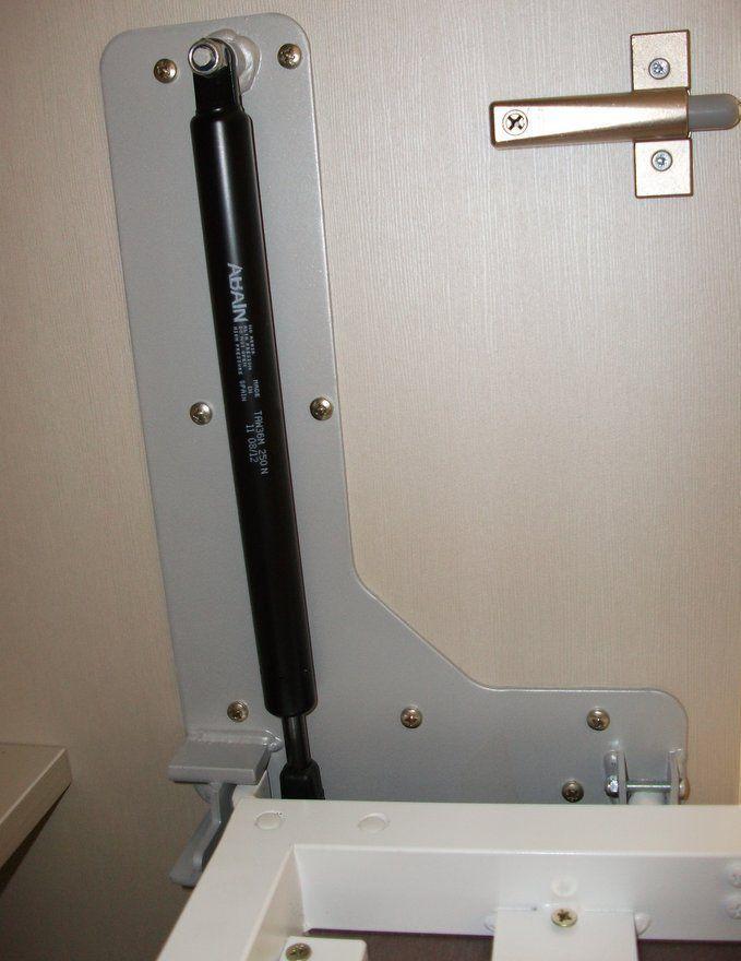 Cama abatible horizontal de 135 con foto sin estantes - Mecanismo para camas abatibles ...