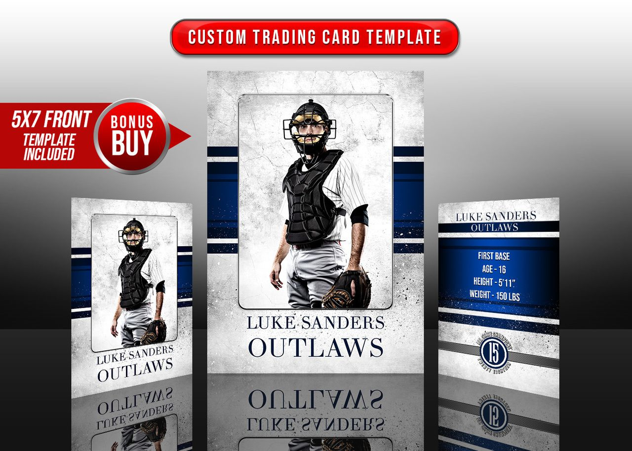 Sports Trading Cards And 5x7 Template Grunge Sport Trading Card Template Trading Cards Cards