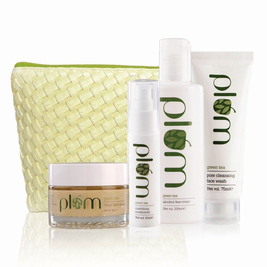 Plum Green Tea Face Care Kit With Free Kit Bag Visit The Image Link More Details This Is An Affiliate Link Green Tea Face Vegan Skin Face Care