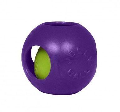 Jolly Pets Teaser Ball 6 Inch Purple Hard Plastic Plus Squeaker