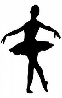 Ballerina | basteln | Ballerina silhouette, Tänzer
