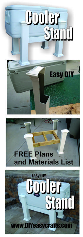 Build your own DIY cooler stand. Never have to bend down for a cold drink again. Great for parties.