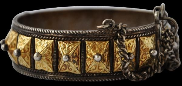 Gold & Silver 'Moon & Sun' Bracelet North-West Morocco 19th-20th century