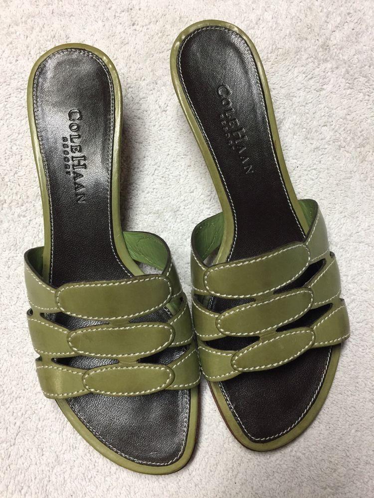 000cbff18c9e Cole Haan Women s Green Slip On Open Toe Sandals Size Sz 6 B in 2018 ...