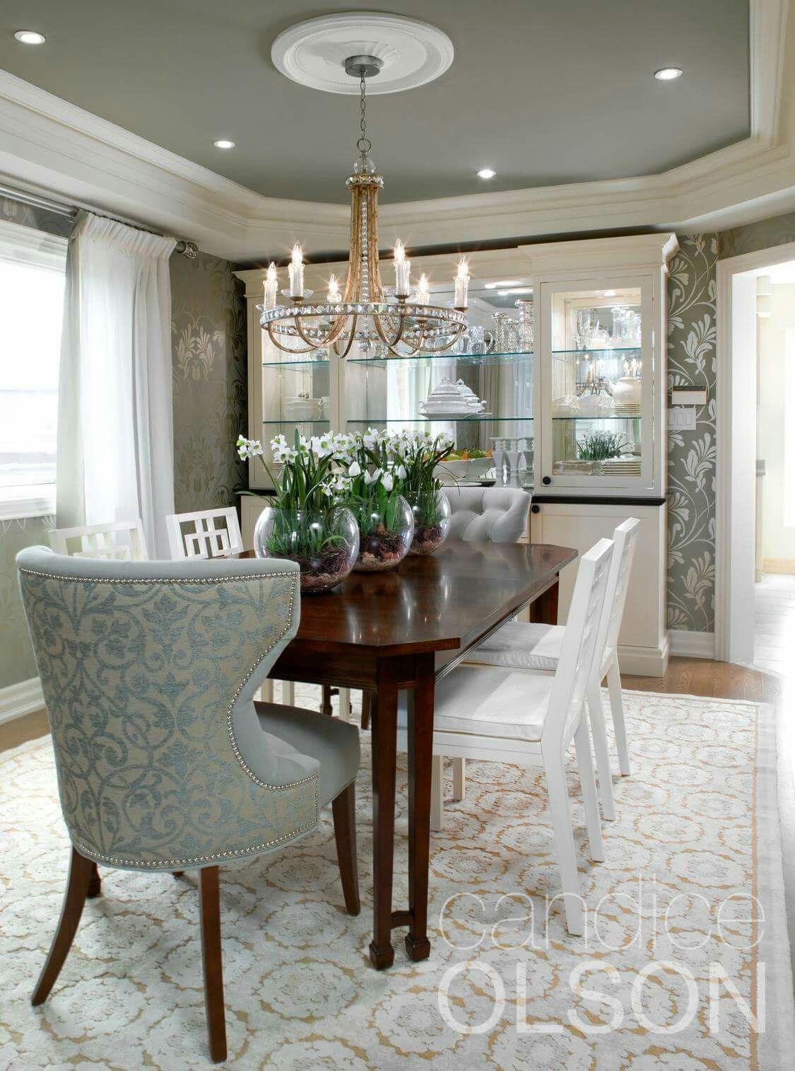 Candace Olsen Designed Dining Room Elegant Dinning Colors Formal Living