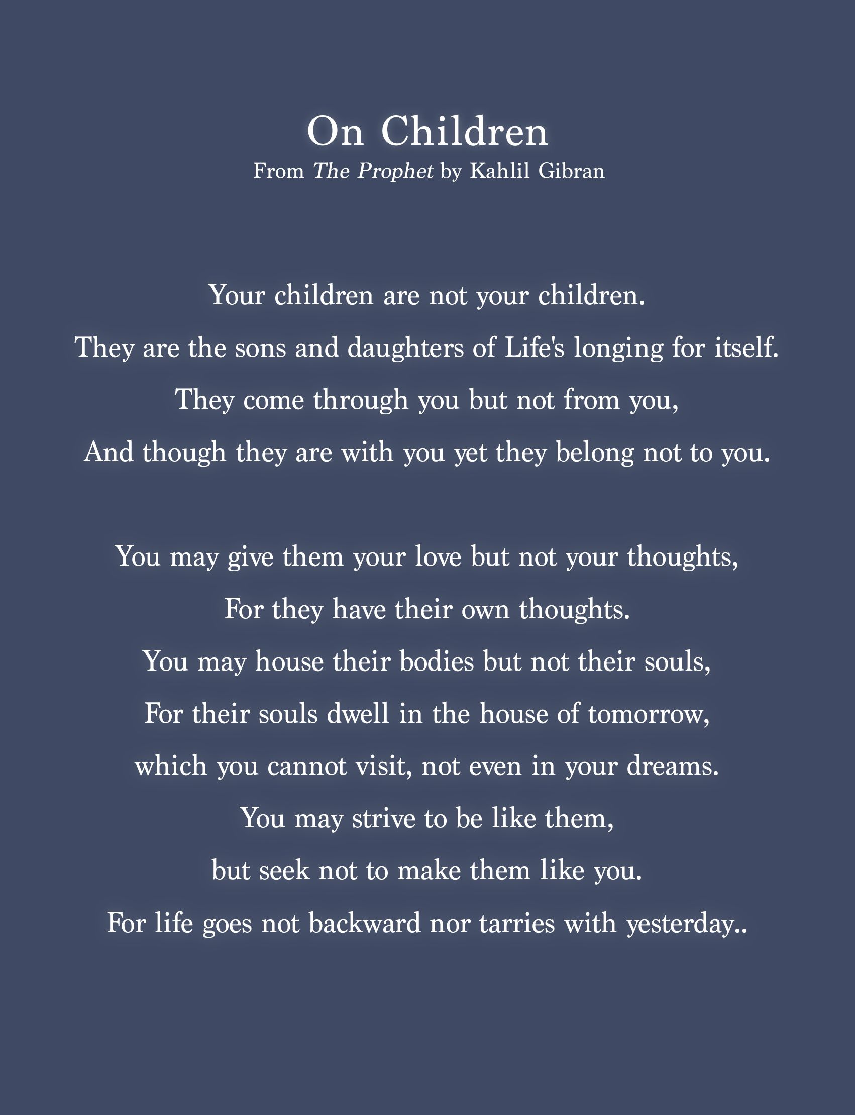 Khalil Gibran Quotes On Children : khalil, gibran, quotes, children, Children