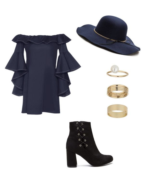 """Navy blue"" by gracemayflower ❤ liked on Polyvore featuring Alexis and Miss Selfridge"