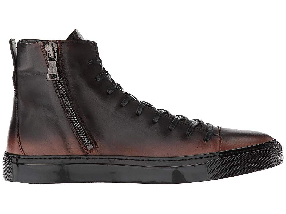 John Varvatos Collection Reed Mid Top Sneaker Men s Boots Walnut ... cb6917370de