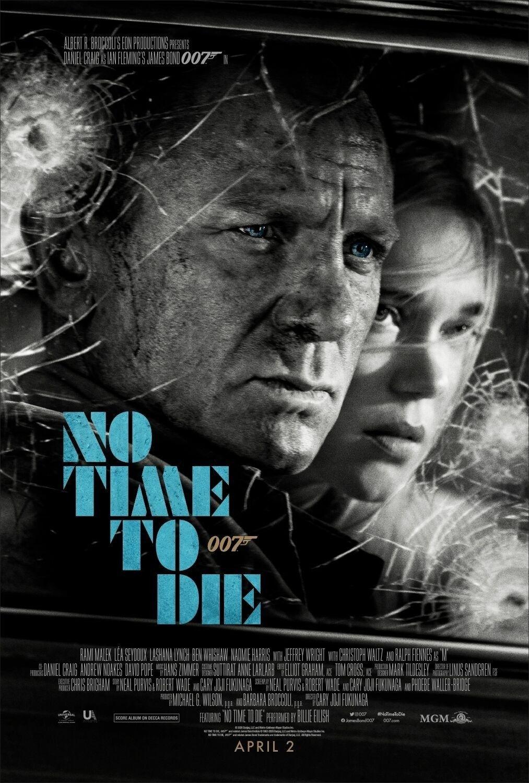 New Official Poster For 007 No Time To Die 2020 Dir Cary Fukunaga James Bond Daniel Craig Bond Movies