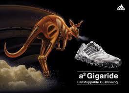 Este anuncio intenta convencerte diciéndote que con estas zapatillas vas a tener fuerza y rapidez como un canguro.