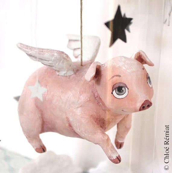 An Origami Winged Pig (Joseph Wu) #origami #pig #flyingpig | Cerdo ... | 572x570