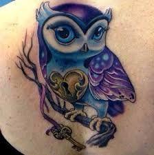 Bildergebnis Fur Girly Owl Tattoos Purple Tattoos Cute Owl Tattoo Owl Tattoo Design