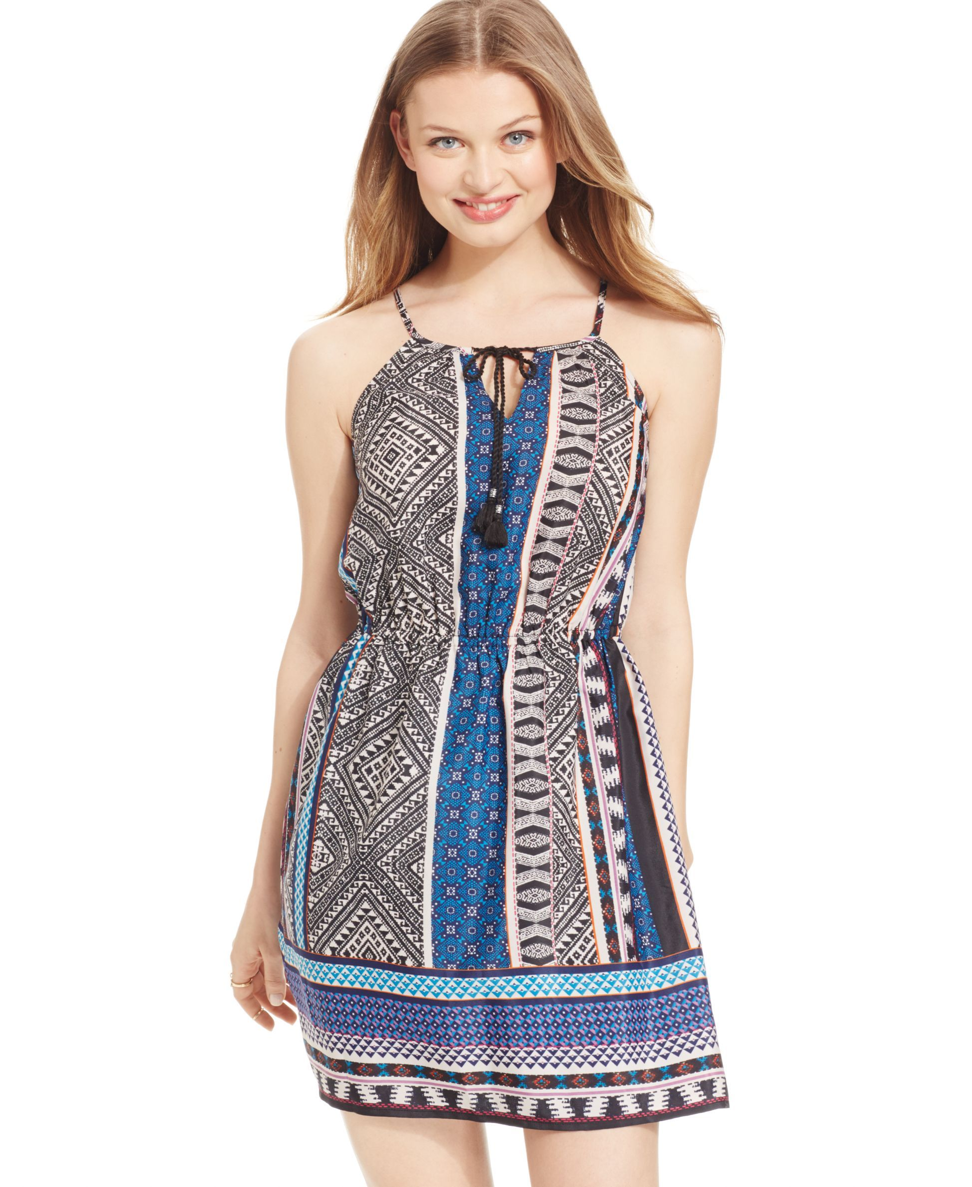 Be bop juniorsu print halter dress products pinterest products