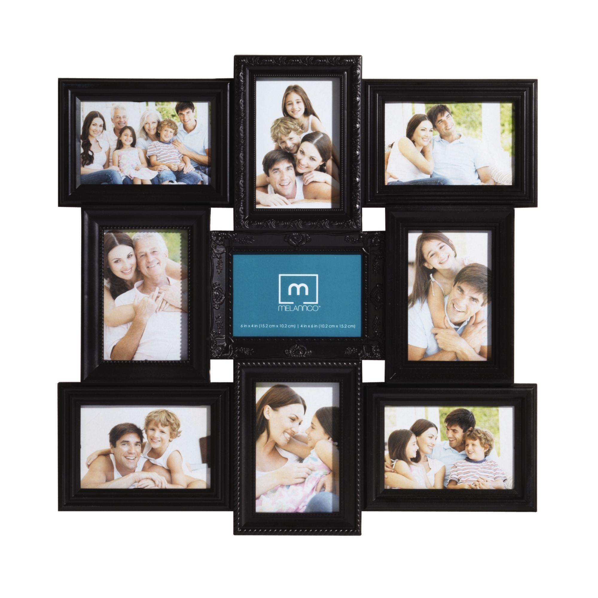 Mellannco Black 9-picture Multi-profile Collage Frame (Melannco 9 ...