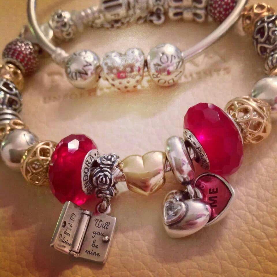 valentines day pandora - Pandora Valentines Bracelet