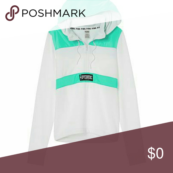 💚VS PINK PERFECT QUARTER ZIP💚 💚VS PINK PERFECT QUARTER ZIP, WHITE AND AQUA WITH LOGO ON BACK OF SHOULDERS  💚NWT 💚SIZE XS 💚NO FLAWS 💚GREAT FOR COLLECTION OR JUS BC 💚SUPER SOFT INSIDE WITH AQUA JACKET LIKE MATERIAL OUTSIDE AT TOP OF HOOD, ROUND WAIST, AND ON BACK WITH LOGO. 💚HAVE TWO DONT NEED THIS ONE!  💚WILL BUNDLE 💚MAKE REASONABLE OFFERS PINK Victoria's Secret Tops Sweatshirts & Hoodies