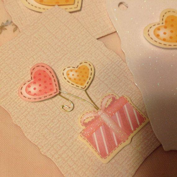 Heart Gift tags by OldNewBorrowedPurple on Etsy, £3.75