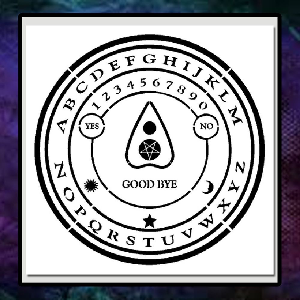 Ouija Board Coffee Table Details About 11 X 11 Round Ouija Board Stencil Pentacle Star