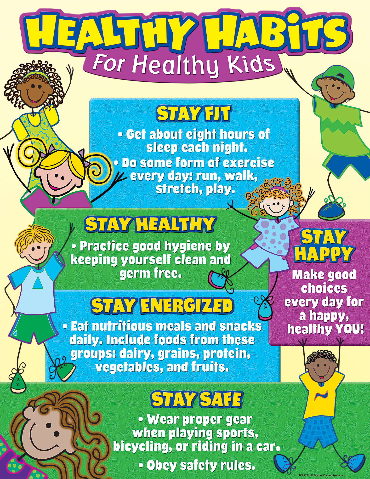 Healthy Habits For Healthy Kids Chart Child Health Safety And