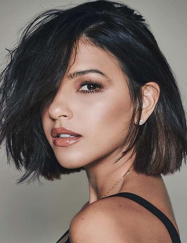 Short Bob Hairstyles With Side Bangs In 2019 Trendy Ideas Of Short Bob Hairstyles With Side Bangs An Best Short Haircuts Thick Hair Styles Short Brunette Hair