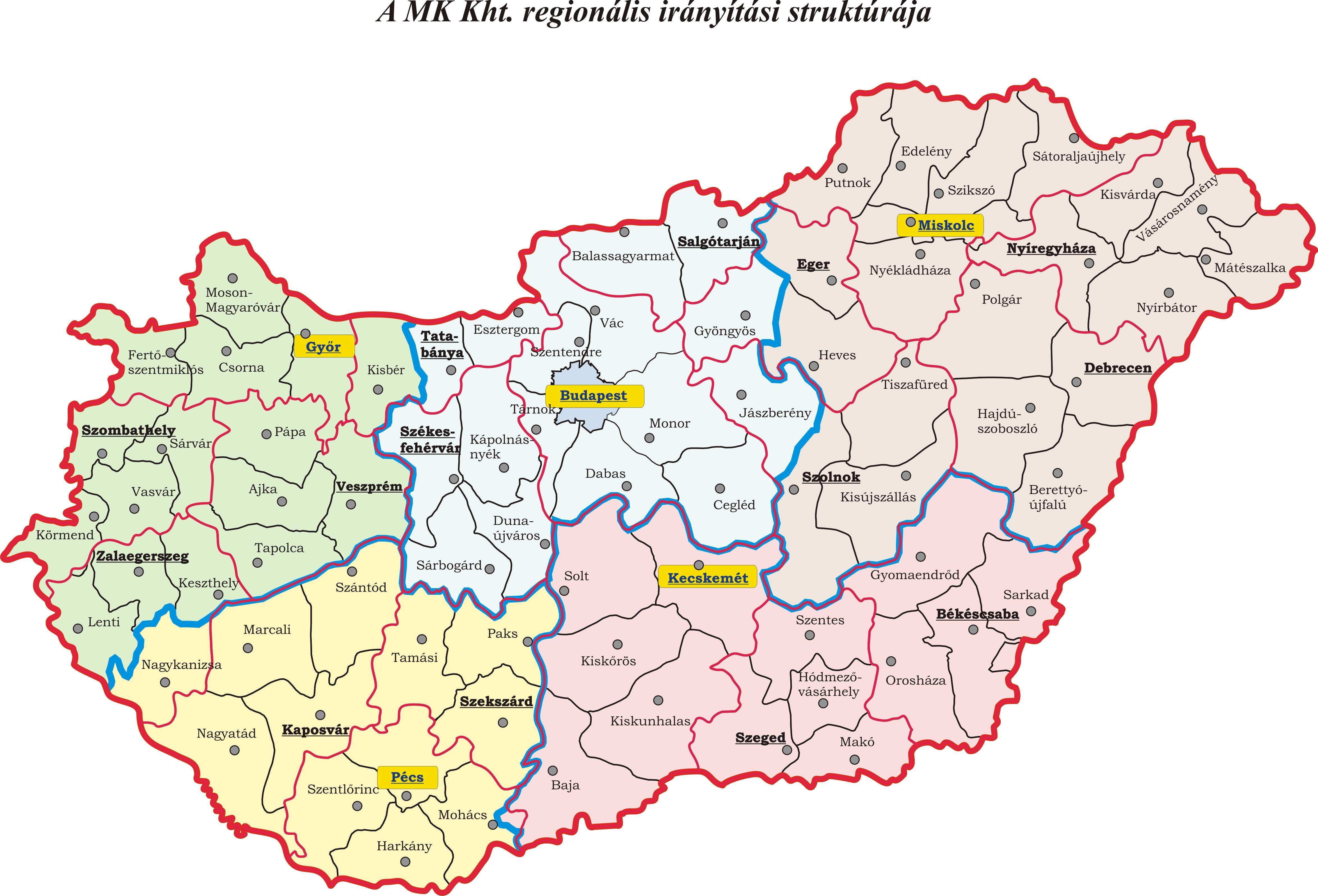 Magyarorszag Regionalis Terkepe 4696 3192 Terkep