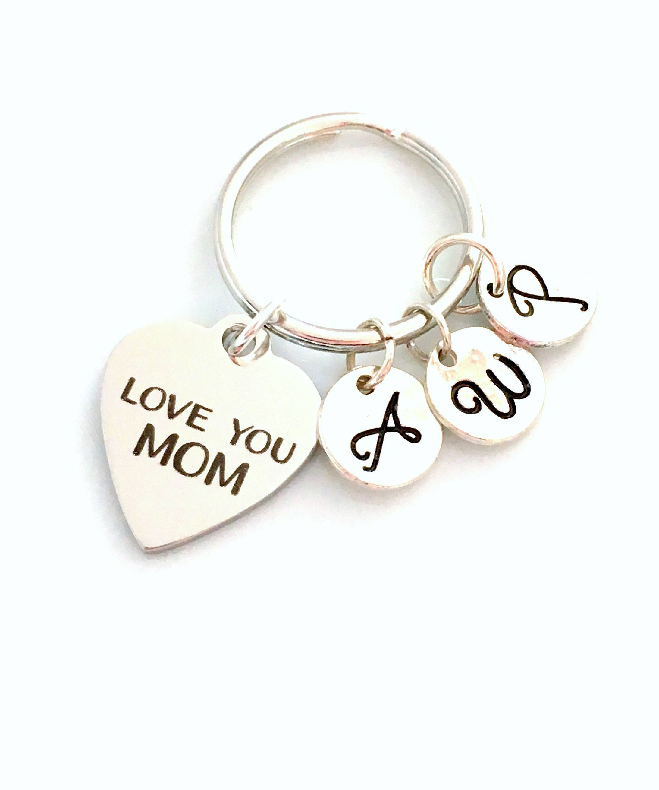 Love You Mom Gift Multiple Letters MotherS Keychain From