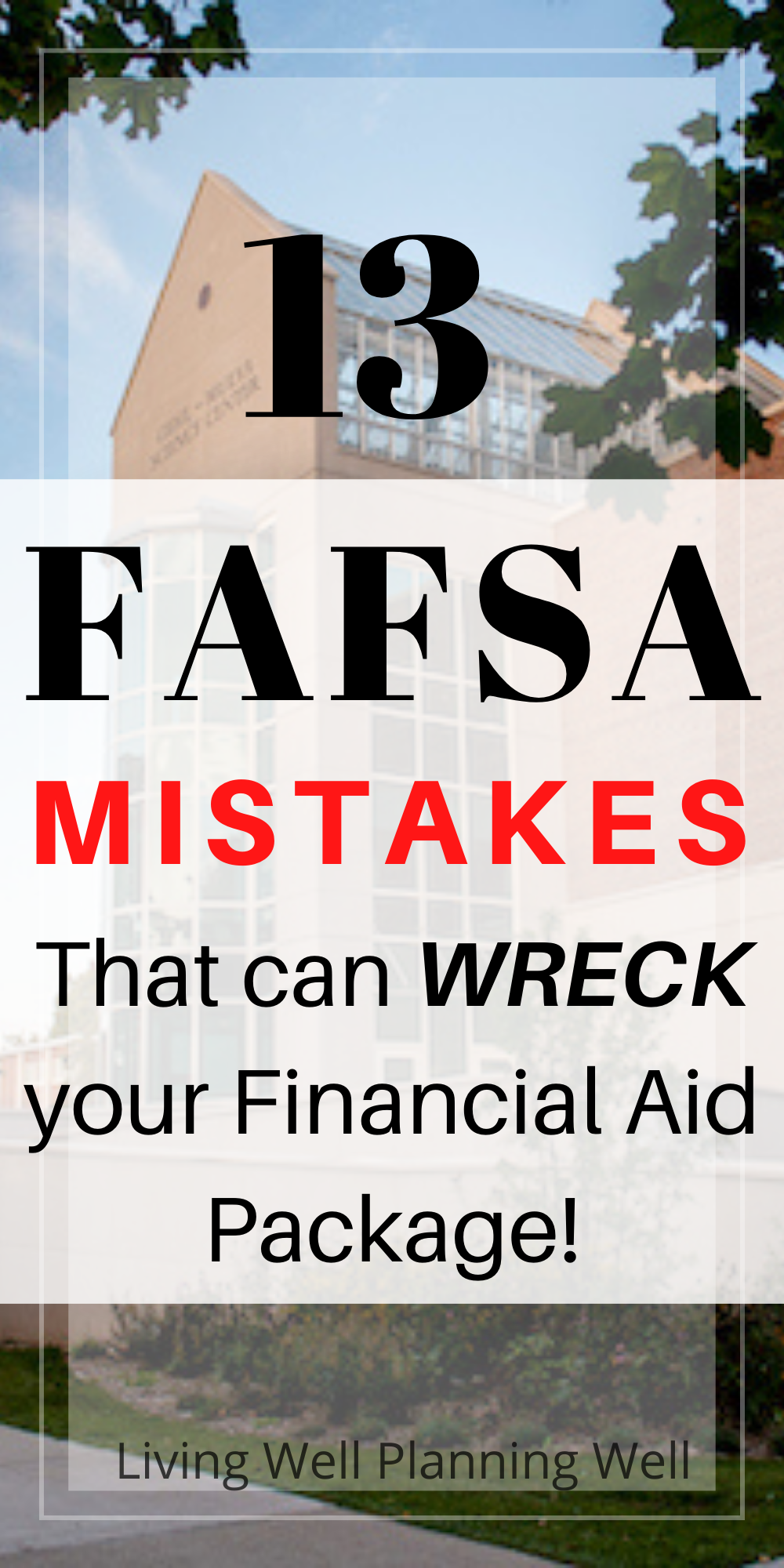 The Worst Fafsa Mistakes Revealed College Counseling Scholarships For College Freshman College