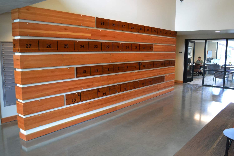 Gym Bleacher Wall Installation Here In Portland Walls
