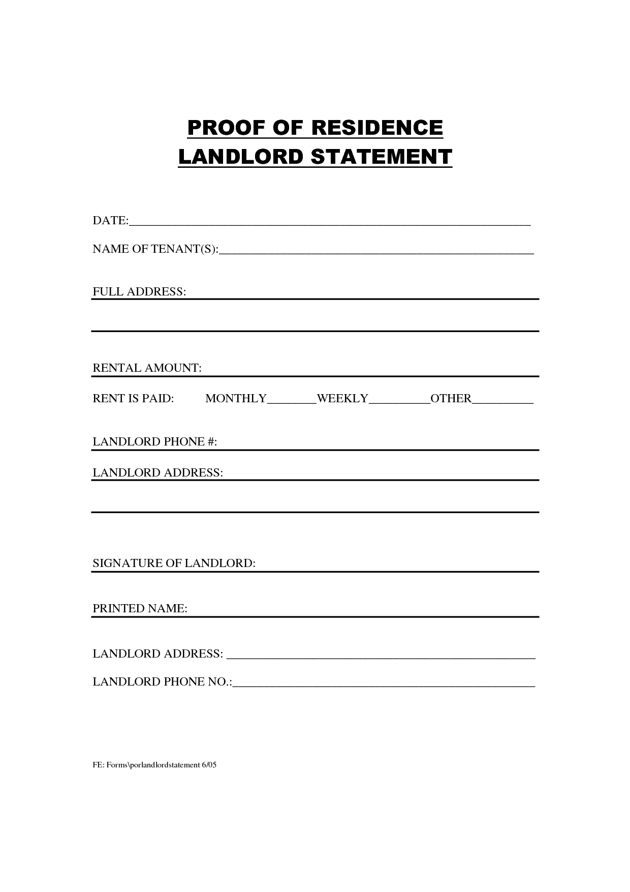 how to write a proof of rent letter
