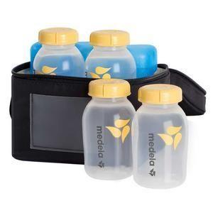 Lot of 4 Medela Clear Bottle Travel Feeding Caps fits Standard or Wide Nipple