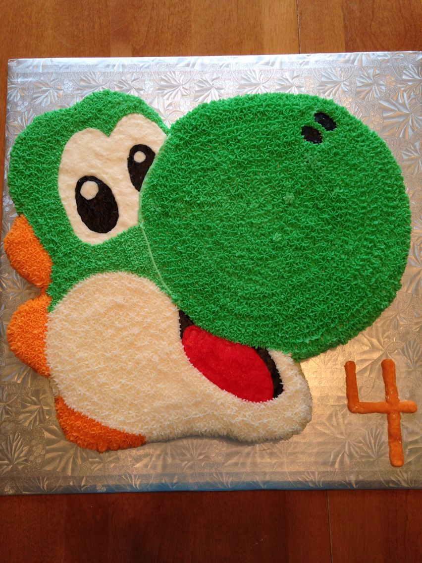 Amazing Yoshi Birthday Cake Mario Birthday Cake Birthday Cupcakes Boy Funny Birthday Cards Online Necthendildamsfinfo