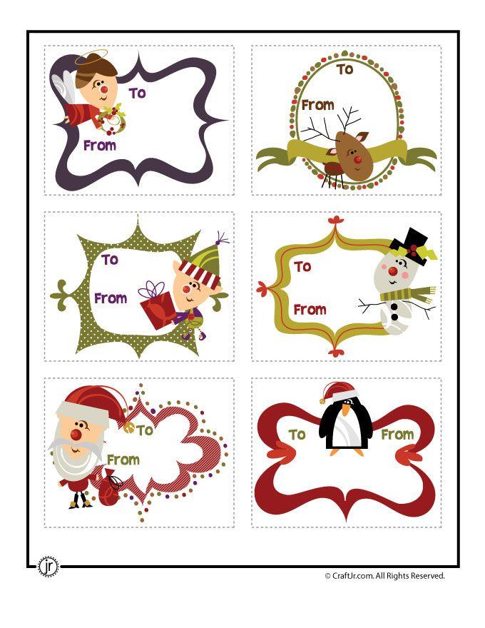 etiquetas regalos de navidad para imprimir divertidas de navidad