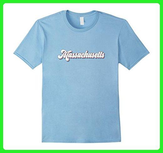Mens Retro Massachusetts T Shirt Vintage 70s Seventies Tee Design 2xl Baby Blue Retro Shirts Amazon Partner Link T Shirt Shirts Funny Shirts