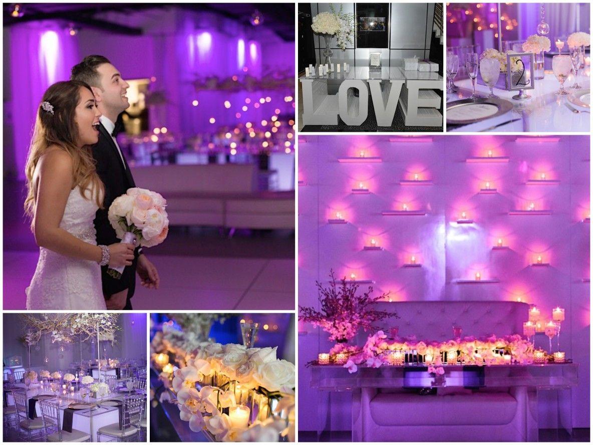 Rose & Bryan's Candlelit Metallic Purple Glam Wedding