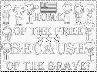 FREEBIE: Veteran's Day Kindergarten Poster